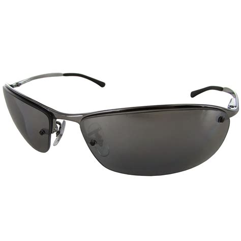Semi Rimless Sunglasses ban mens rb3183 semi rimless polarized sunglasses ebay