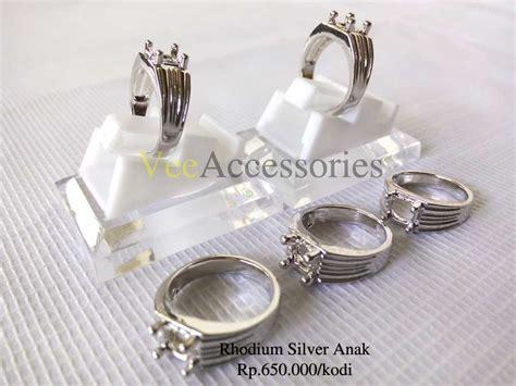 20 Buah Ring Cincin Titanium Wanita Silver Impor ring cincin rhodium silver anak habis grosir cincin murah