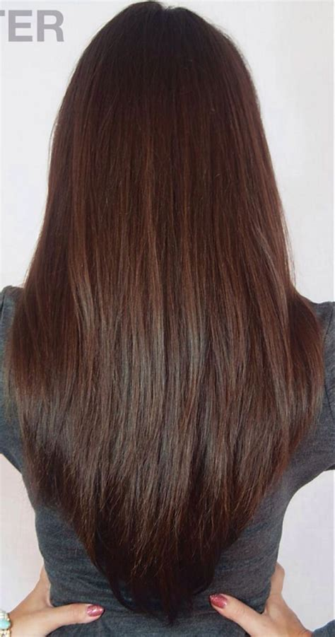 front and back views of chopped hair 1000 ideas about long v haircut on pinterest v shape