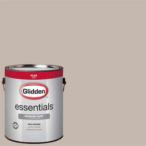 glidden essentials 1 gal hdgwn24 harbor greige flat interior paint hdgwn24e 01fn the