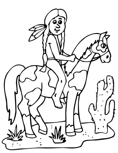 free coloring pages indian free coloring pages of horse indian