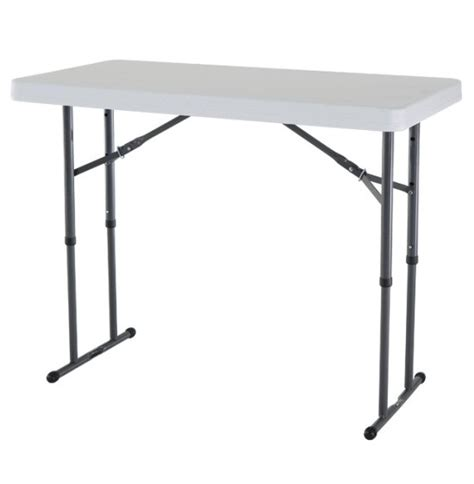 lifetime 4 foot table new lifetime 4 adjustable white granite folding table