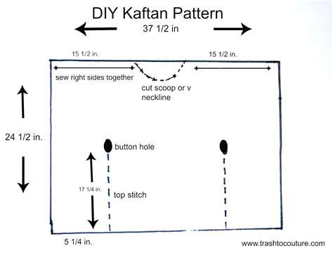pattern making en francais trash to couture diy kaftan pattern