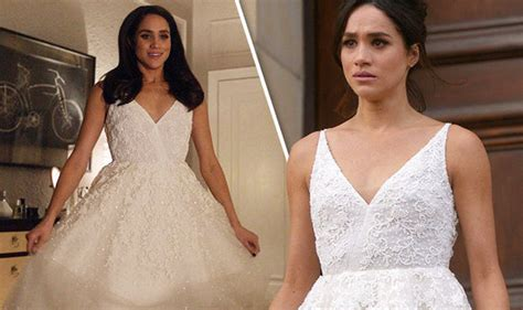 Designers Christopher Deane Dress Machine Second City Style Fashion Second City Style by Meghan Markle Tries On Wedding Dresses As Prince Harry