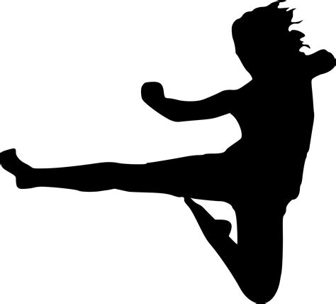 Free Silhouette Images taekwondo silhouette clipart best