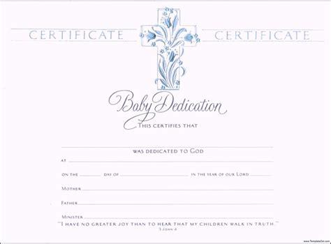 baby dedication certificates templates baby dedication certificate template business