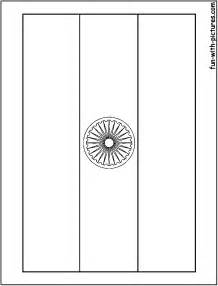 Outline Picture Of Indian National Flag by Indian Flag Coloring Page 12767