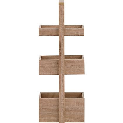 Skydale 3 Tier Bathroom Caddy Wood Grain
