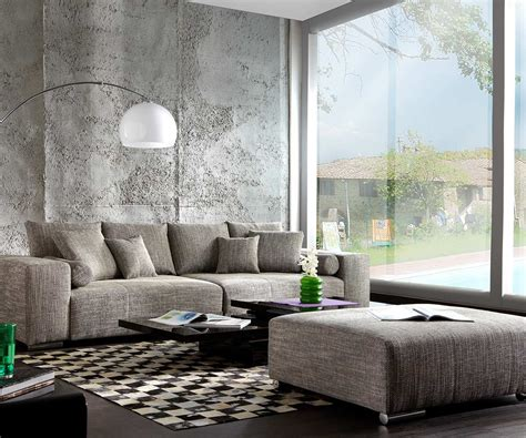 big hocker big sofa marbeya 285x115 hellgrau mit hocker m 246 bel