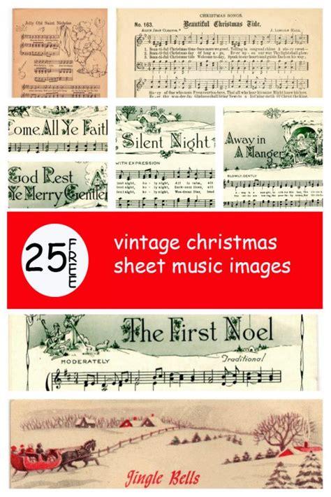 remodelaholic 25 free printable vintage christmas sheet
