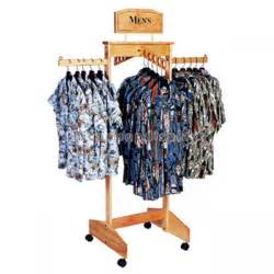 Wooden Clothing Display Rack by Hanging Clothing Store Fixtures Simple Freestanding Wooden Clothes Rack For Promotion Of