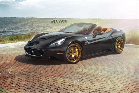 G Ferrari Bronze by Nero Daytona Ferrari California On Bronze Strasse Wheels