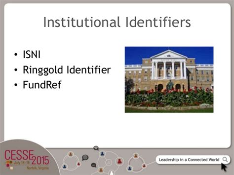 Institutional Record Institutional Identifiers In Practice Christine Orr At Cesse 2015