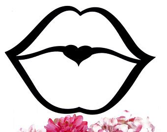 kissing lips coloring page kiss lips drawing clipart best