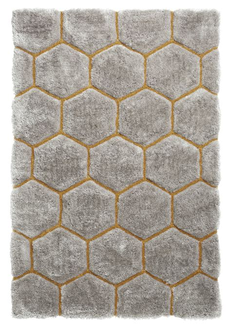 hexagon rugs shaggy rug soft noble house tufted honeycomb hexagon home d 233 cor mat ebay