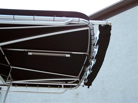 Retractable Aluminum Awnings Extend A Top Boat Shades By Action Welding Of Southwest Fl