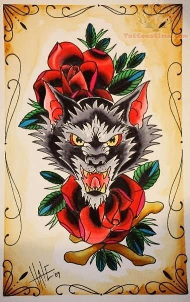 new school wolf tattoo design image result for old school wolf tattoo art pinterest