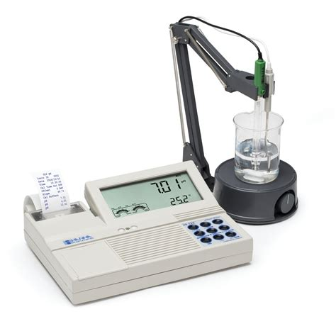bench com ph professional benchtop ph mv meter with built in printer