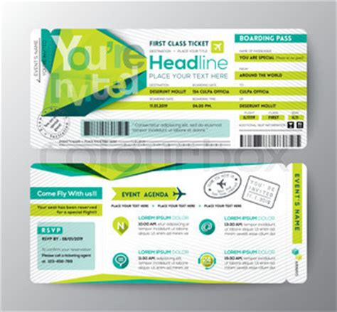 boarding pass place card template abstract polygon design boarding pass event ticket invite