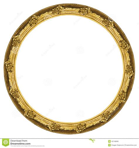 Stiker Original Gold Oval marco circular de oro aislado en el fondo blanco foto de