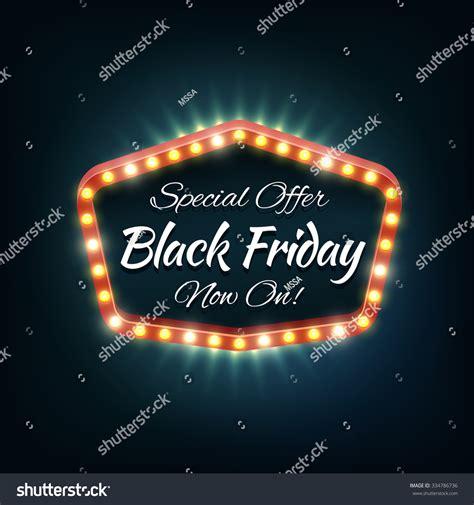 black friday light sale black friday light frame retro billboard sale and