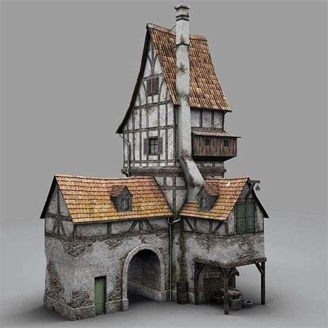 fantasy houses fantasy old blacksmith house obj old blacksmiths house by bemola popsicle stick structure
