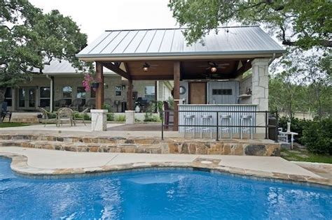 building a pool house metal pool buildings designs rustic yet refined pool