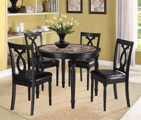 9 Pc Dining Room Set homelegance piper 5pc round dinette set faux marble 2566