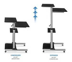 Stand Up Computer Desk Height Mount It Mobile Stand Up Desk Height Adjustable