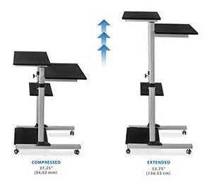 Height Adjustable Mobile Computer Standing Desk Cart Mount It Mobile Stand Up Desk Height Adjustable