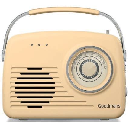 goodmans classic amfm retro radio cream radios bm