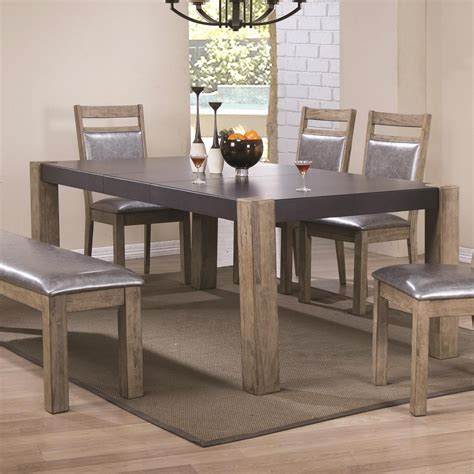 butterfly leaf dining room table coaster ludolf 107131 two tone finish dining table with
