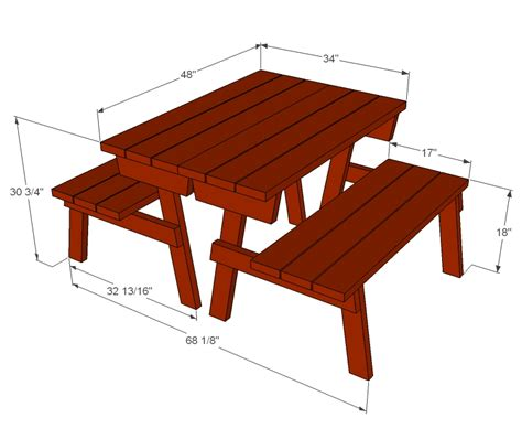 picnic table to bench plans to build a picnic table bench quick woodworking projects
