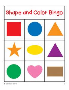 shapes colors bingo game cards 3x3 sallieborrink