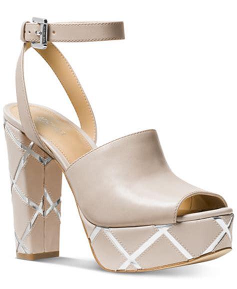 michael kors sandals macys michael michael kors platform dress sandals