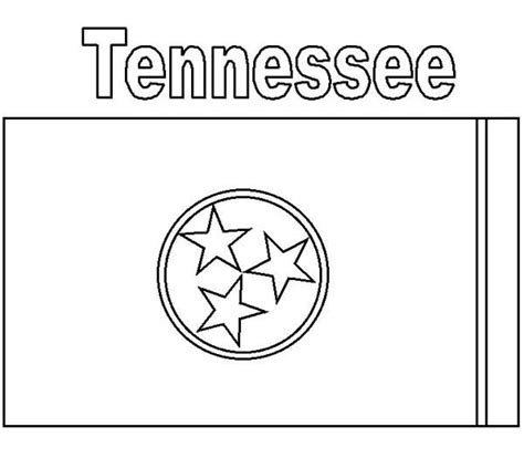 tennessee state colors tennessee state flag coloring page tennessee state flag