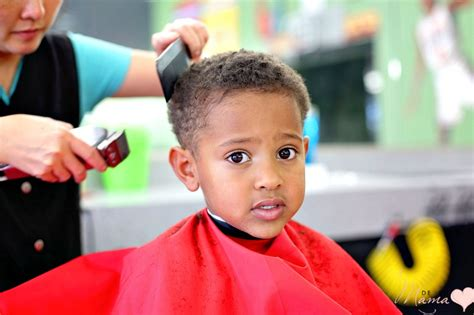 how to style biracial boysbhair my curly boy s first buzz haircut de su mama
