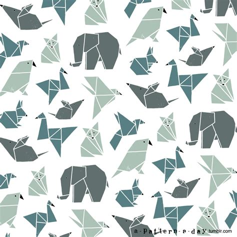 Origami Pattern - origami animals pattern pattern
