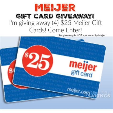 Meijer Gift Card - meijer gift card giveaway 4 25 gift cards a mitten full of savings