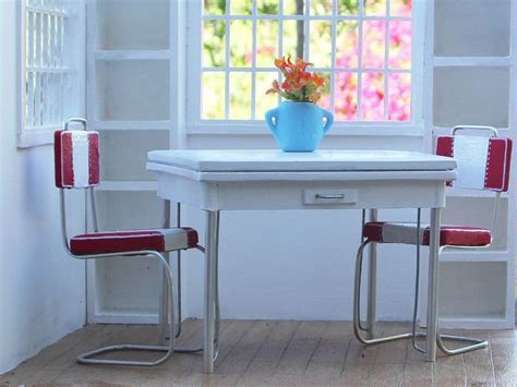 vintage white kitchen table chairs ceramic top