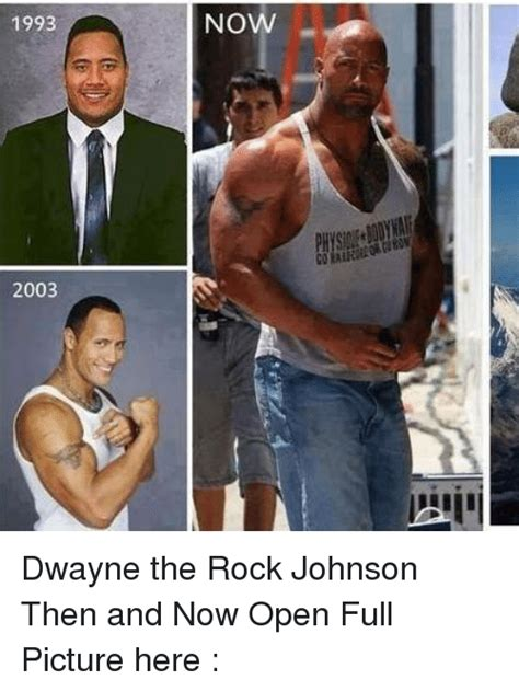 dwayne the rock johnson then and now 1993 2003 now dwayne the rock johnson then and now open