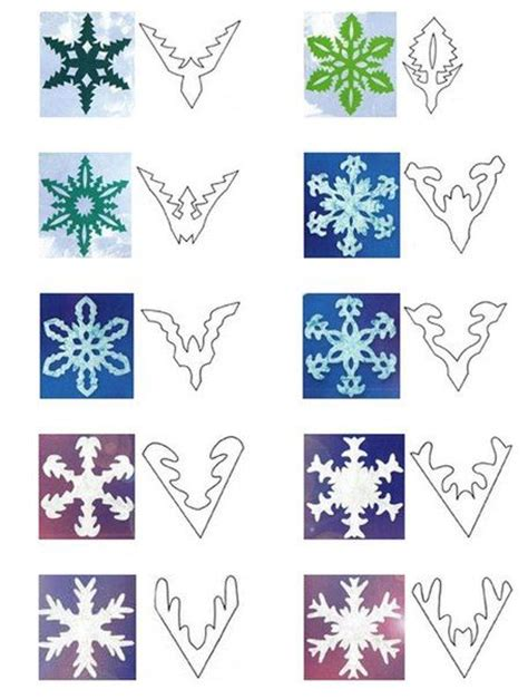 snowflake patterns paper homealterdecor top