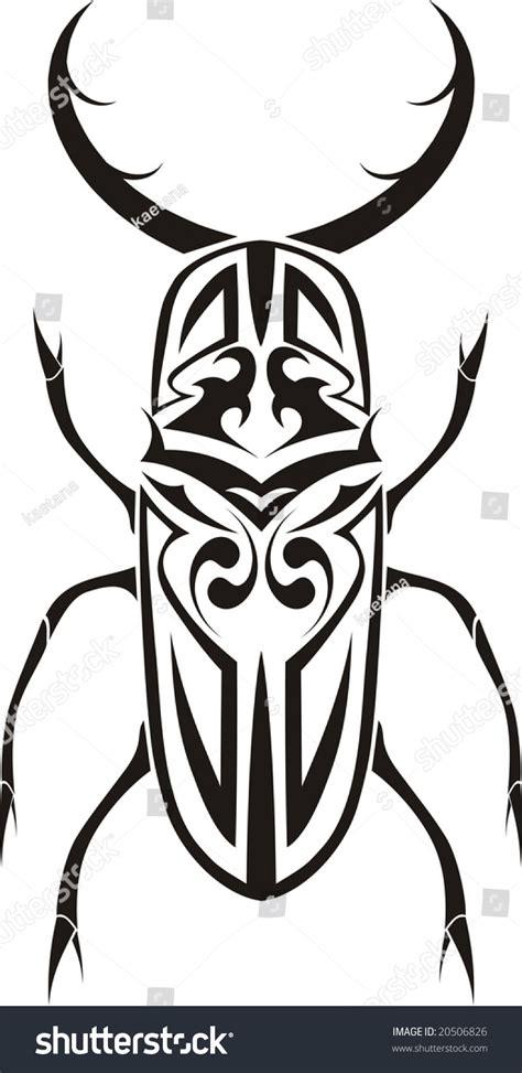 tribal stag tattoo stag beetle tribal stock illustration 20506826