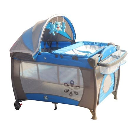 Cot Change Table Blue Bassinet Change Table Travel Cot With Canopy Buy Portacots