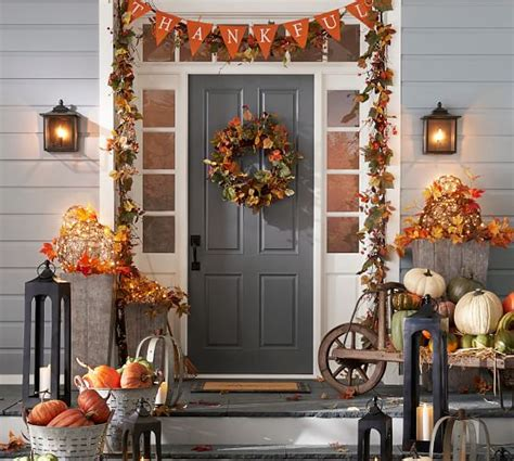 harvest home decor harvest home d 233 cor garland pottery barn