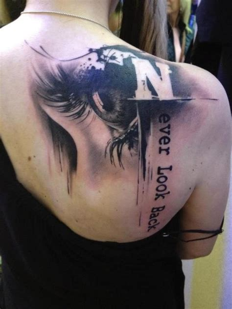 photorealistic tattoo photorealistic never look back