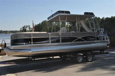 used pontoon boats for sale in upper michigan aloha pontoons mahalo series 260 upper sundeck 2015 for