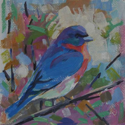painting birds acrylic daily paintings by elizabeth blaylock american