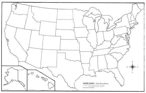 us map outline states blank blank map united states regions printable