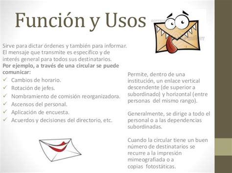 carta formal funcion documentos administrativos carta circular hoja de vida corporativa